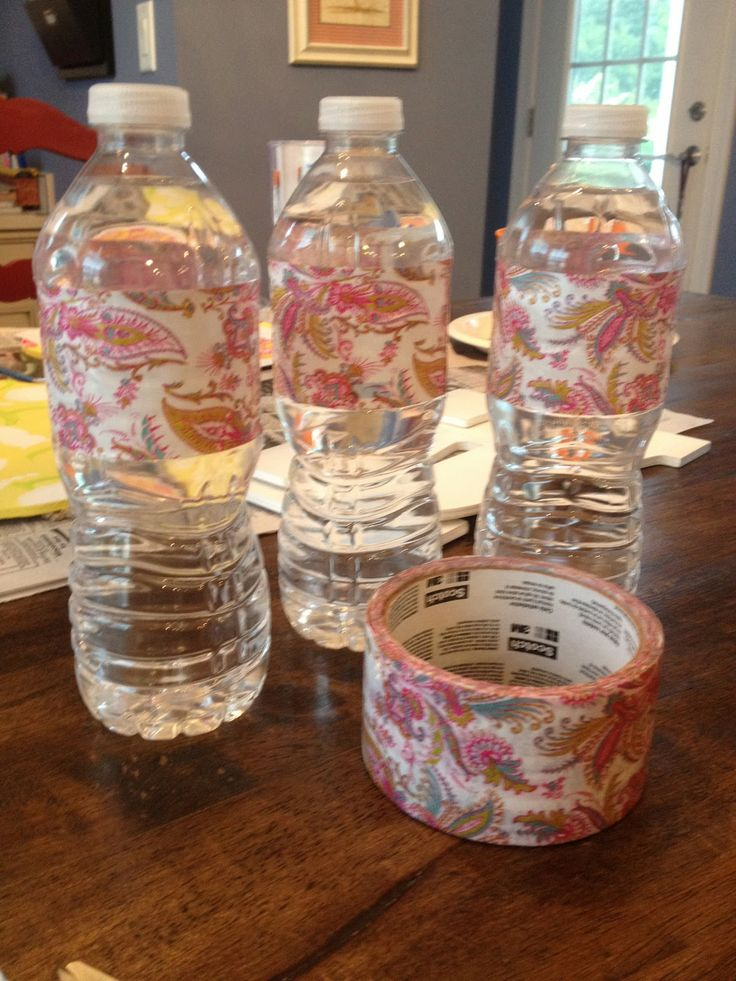 Duck Tape Water Bottle Labels Preppy Kates: Bachelorette Party Goodie Bags...