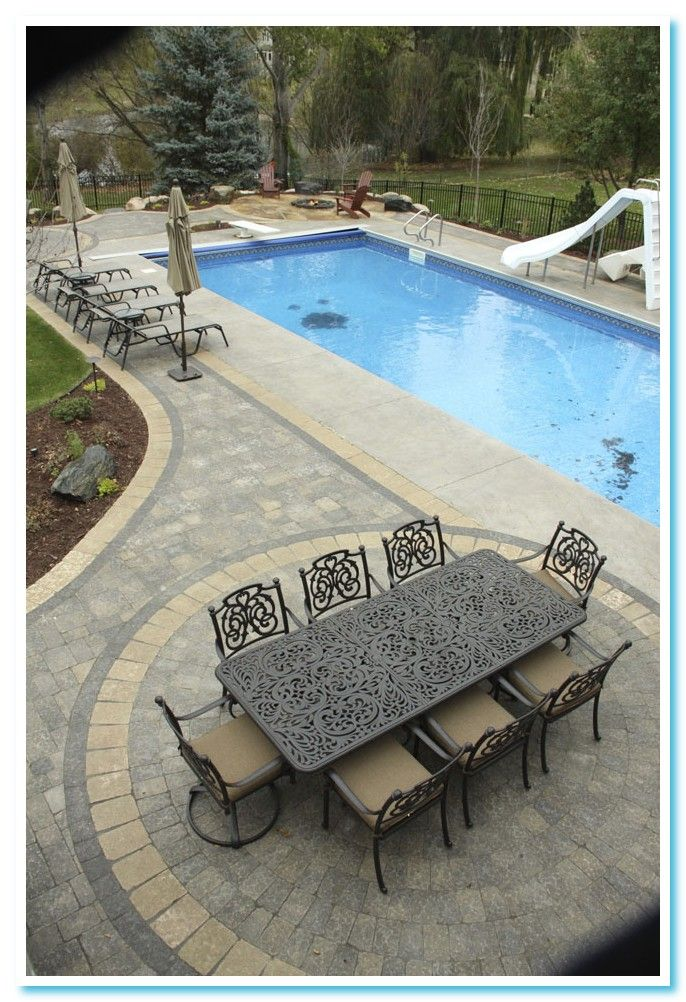 130 Reference Of Patio Pool Concrete Patio Ideas In 2020