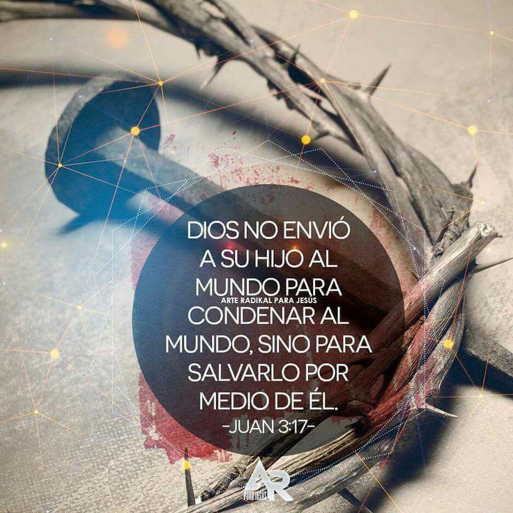 Juan 3:17 Porque no envió Dios a su Hijo al mundo para condenar al mundo, sino para que el mundo sea salvo por él. Marcos 10:45 Porque el Hijo del Hombre no vino para ser servido, sino para servir, y para dar su vida en rescate por muchos. Juan 3:18 El que en él cree, no es condenado; pero el que no cree, ya ha sido condenado, porque no ha creído en el nombre del unigénito Hijo de Dios.♔