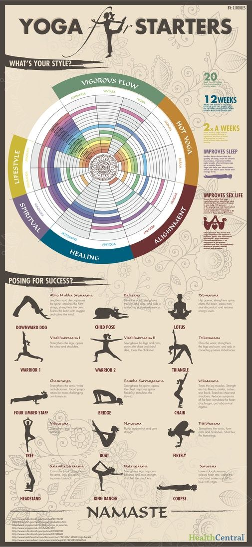 Yoga Styles and Yoga Poses For Starters [Infographic] - http://yogaadvise.com/yoga-styles-and-yoga-poses-for-starters-infographic/