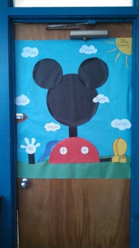 Mickey Mouse Clubhouse door, my very first door in my very first room as a head teacher :)