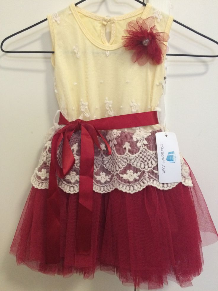 Girls Red Tutu Dress is Size 1 AU$15.00  Girls Red Tutu dress with matching ribbon and detachable bow. Has a underskirt so dress isn't see thru. Elasticated waist and one button open at back.Colour is cream with RedWill suite girls up to 1 y...