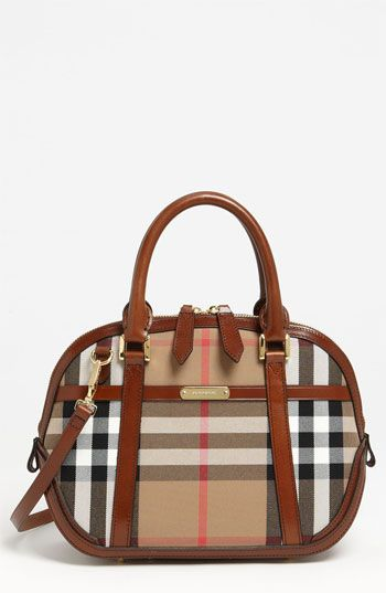 Burberry 'House Check' Crossbody Satchel, Small available at #Nordstrom