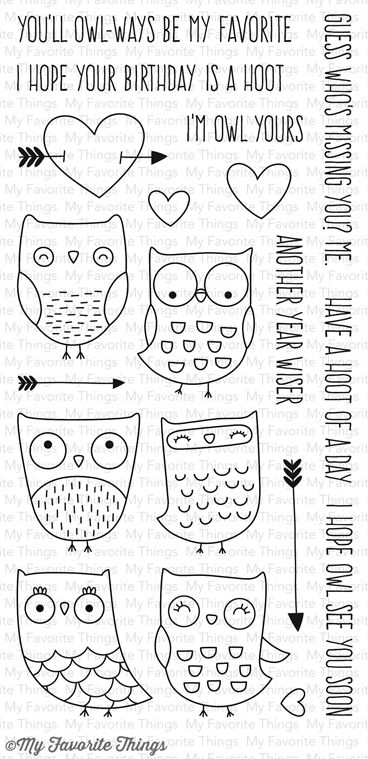 I'm Owl Yours stamp set #mftstamps