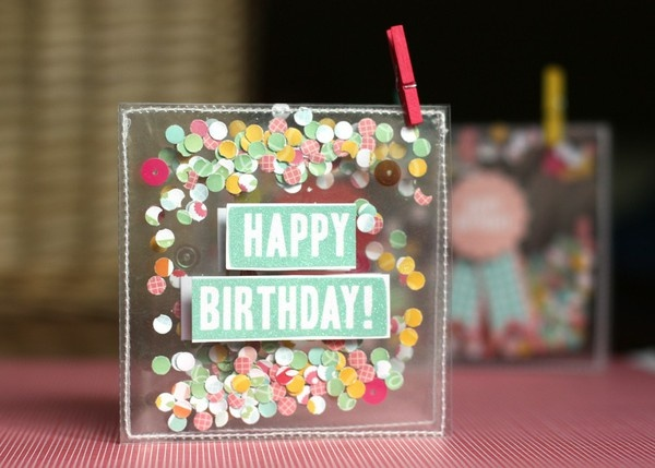 Confetti cards - Two Peas in a Bucket