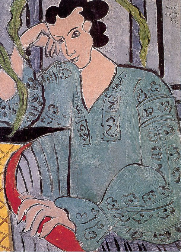 The Romanian Green Bluse, Henri Matisse
