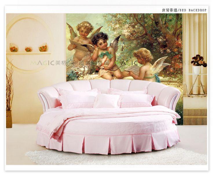 Может быть настроены большой mural 3d обои столовая обои спальня ТВ диван фрески потолка Европейский Греческой мифологии детские энджелл купить на AliExpress