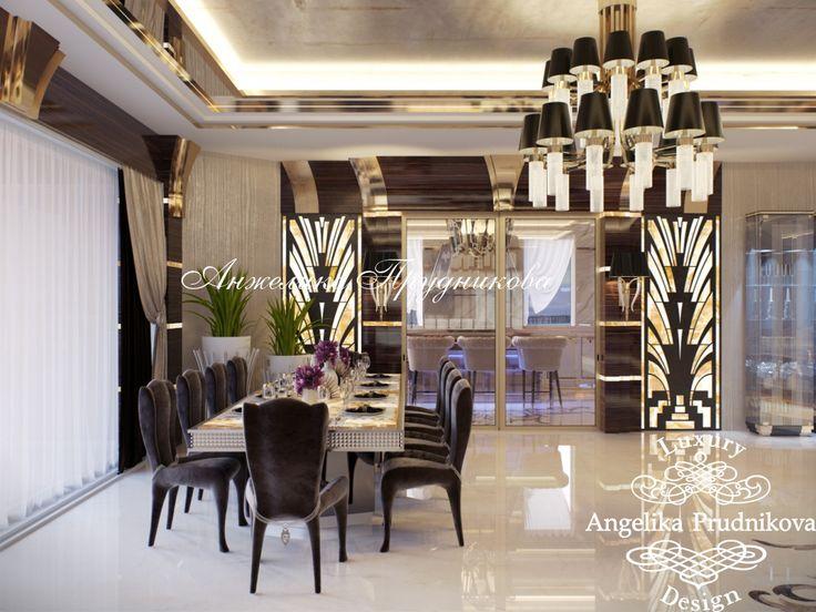 Дизайн интерьера гостиной в стиле Ар Деко (мебель - фабрика Visionnaire)…