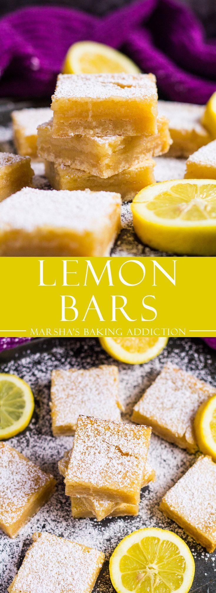 Lemon Bars | http://marshasbakingaddiction.com /marshasbakeblog/