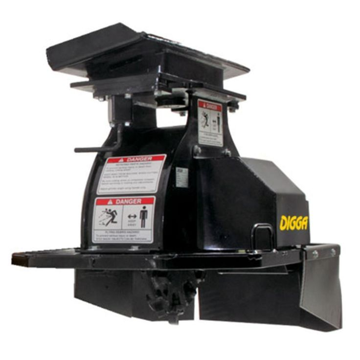 Digga hydraulic stump grinder for mini skid steer loaders