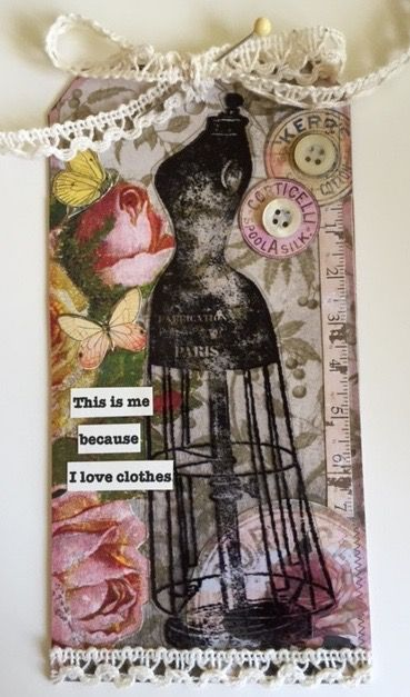 "JULY 2015 CHARACTER CONSTRUCTIONS TAG SWAP WITH STAMPS MADE BY CATHERINE MOORE ""THIS IS ME!"""