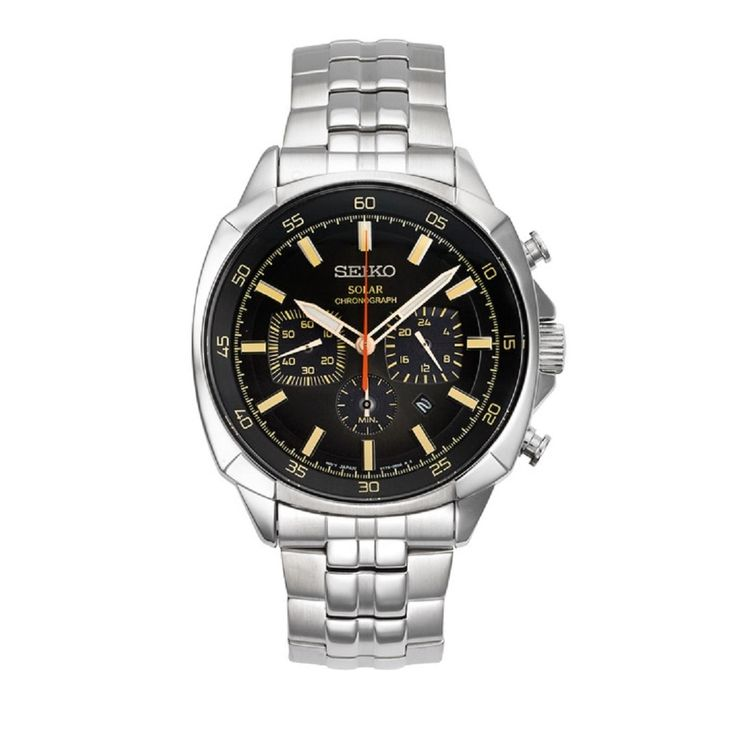 Seiko Men's SSC511 Recraft Solar Chronograph Watch