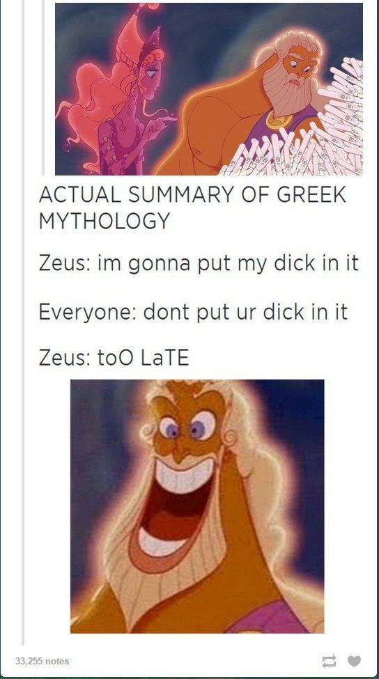 When they used Hercules to demonstrate how Greek mythology actually worked. | 31 Times Tumblr Had Serious Questions About Disney