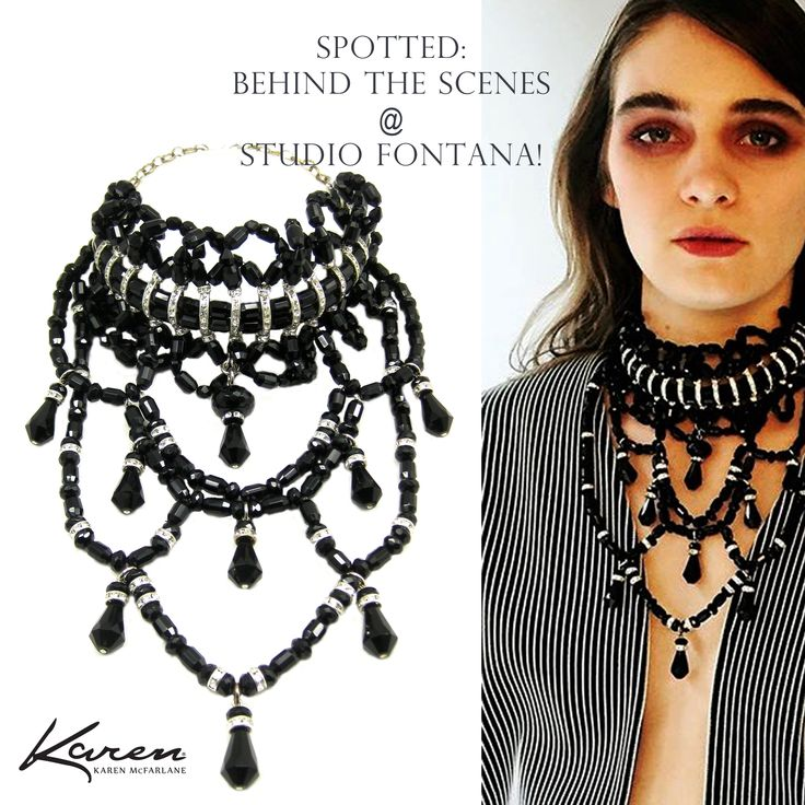 Spotted: Behind The Scenes @ Studio Fontana! Karen McFarlane Neckpiece (#755n) Stylist: Felicia Ryan Model: Hannah Park Fashion Atelier Guarin