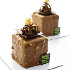 """My individual """"Rocher"""". A lot of #chocolate and #hazelnut went into these…"""