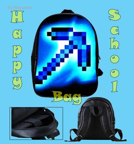 Custom School Bag - New MINECRAFT  creeper Bag This high-quality  school bag is the perfect accessory for school children. Made from high-grade PU leather. It is the perfect way for children to carry