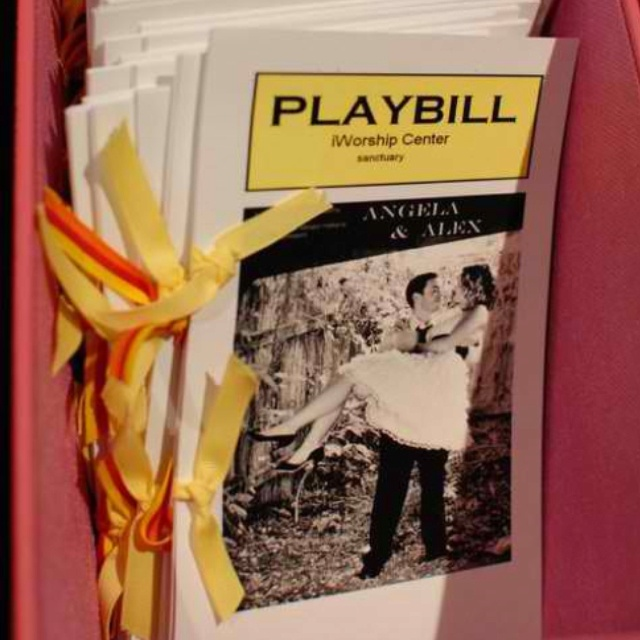 1000 images about wedding playbills on pinterest