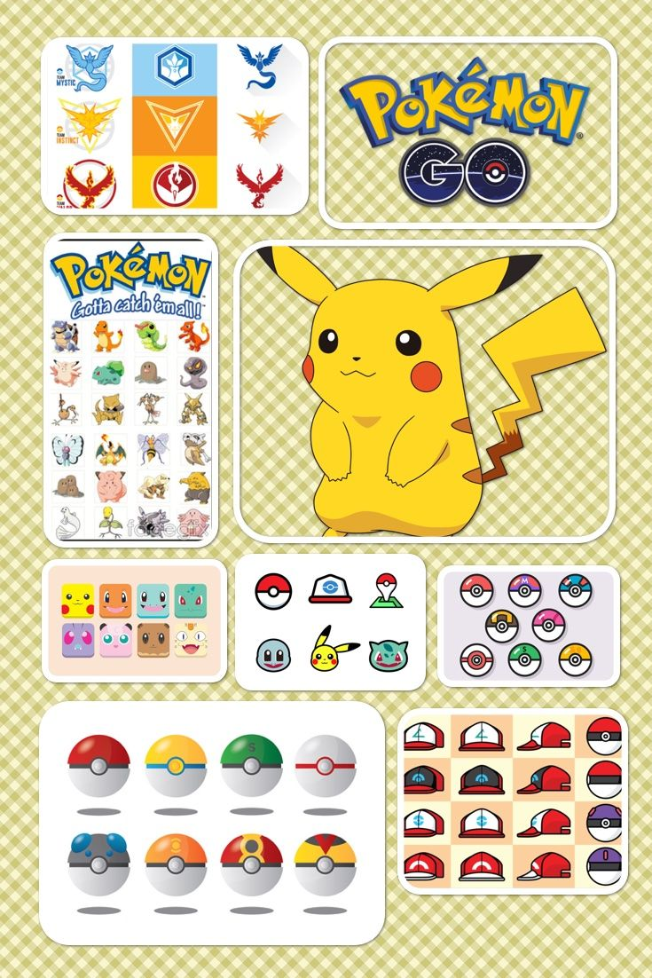 A collection of balls and hats in Pokemon with different angle, 100% vector