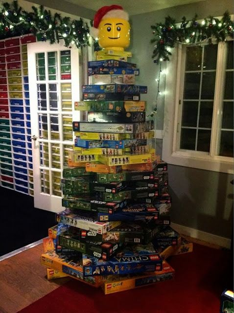 This tree was posted on Brickpicker.com.  I am definitely going to do this next Christmas.   My tree will have lots of pink and purple in it because I collect Friends sets.  Check out the LEGO storage in the background.   Sewing for American Girl Dolls: LEGO