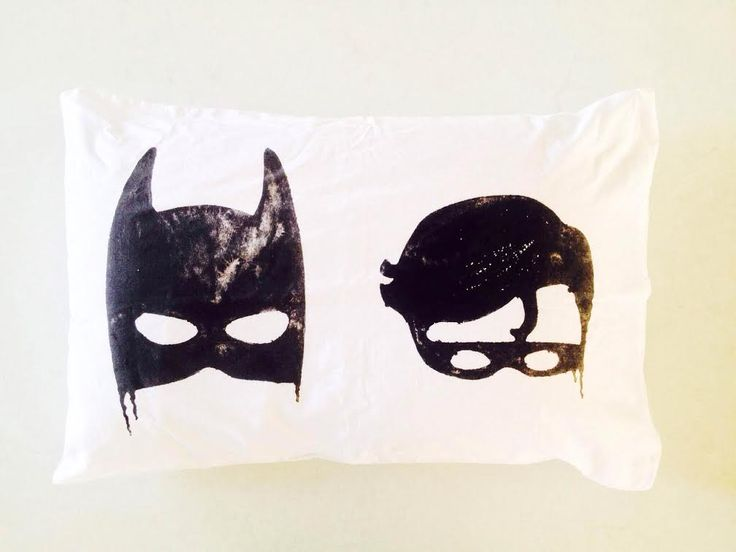 Little Pop Studio Batboys Pillowcase at Talo Interiors. We're pretty certain this cool pillowcase will have your little superhero running to get to bed on time. It's what childhood dreams are made of really. Guaranteed to be a hit.
