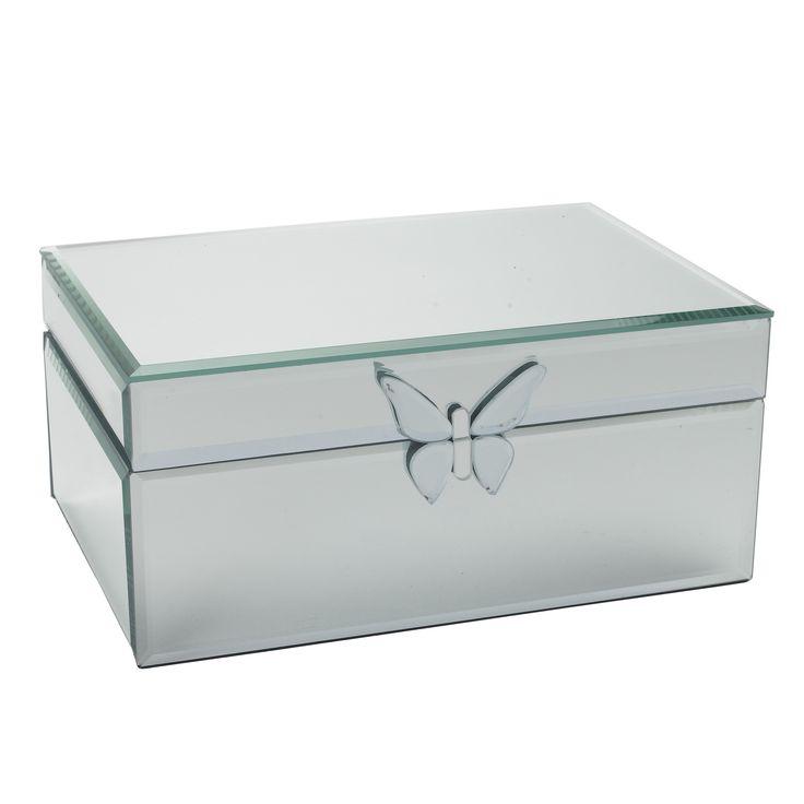 Butterfly Mirrored Jewellery Box