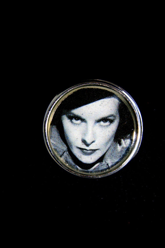 Film noir  liquid glass brooch by RenatasArt on Etsy, €10.00
