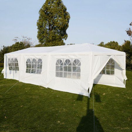 Costway 10'x30'Heavy duty Gazebo Canopy Outdoor Party Wedding Tent - Walmart.com