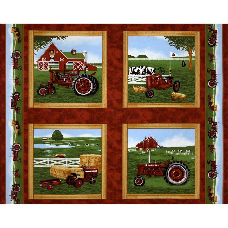 188 best images about fabric on pinterest floral border - Farmall tractor wallpaper border ...