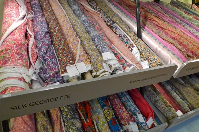 Fabric shopping in London by Tilly and the buttons