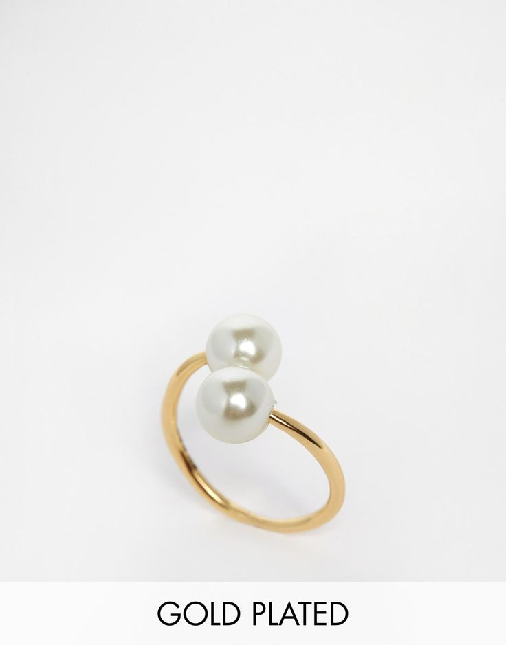 Pilgrim Faux Pearl Open Ring
