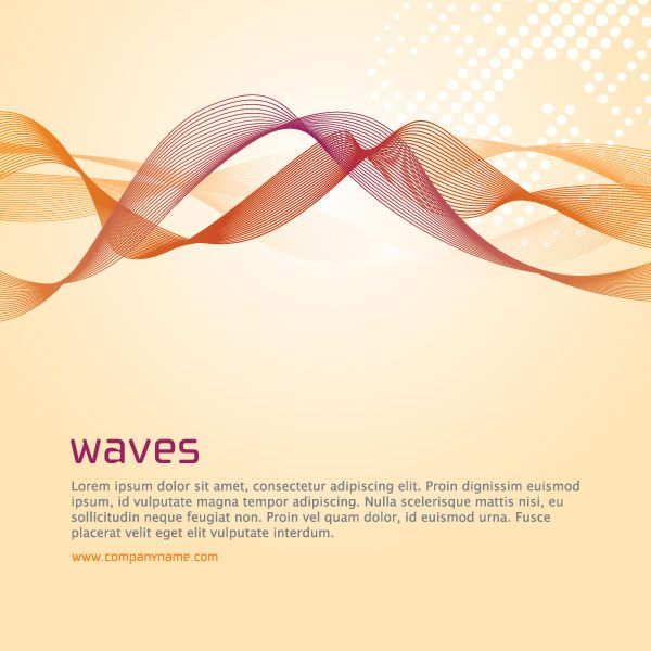 Waves Vector Graphic