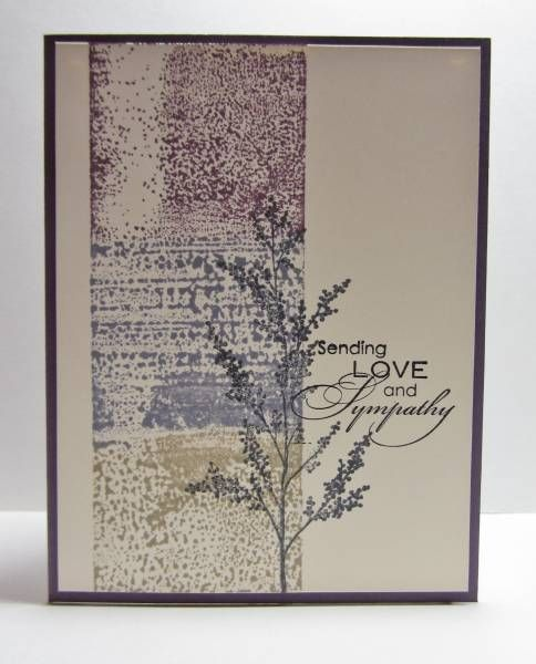 CAS197 Love & Sympathy by nancy littrell - Cards and Paper Crafts at Splitcoaststampers