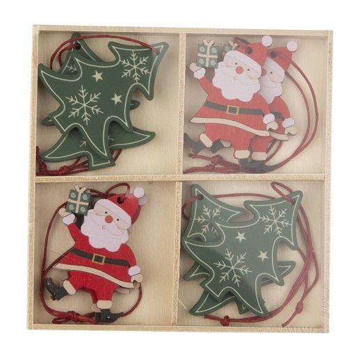 Drewniane Zawieszki Bombki Na Choinke 8 Sztuk 8729456037 Oficjalne Archiwum Allegro Holiday Decor Holiday Decor