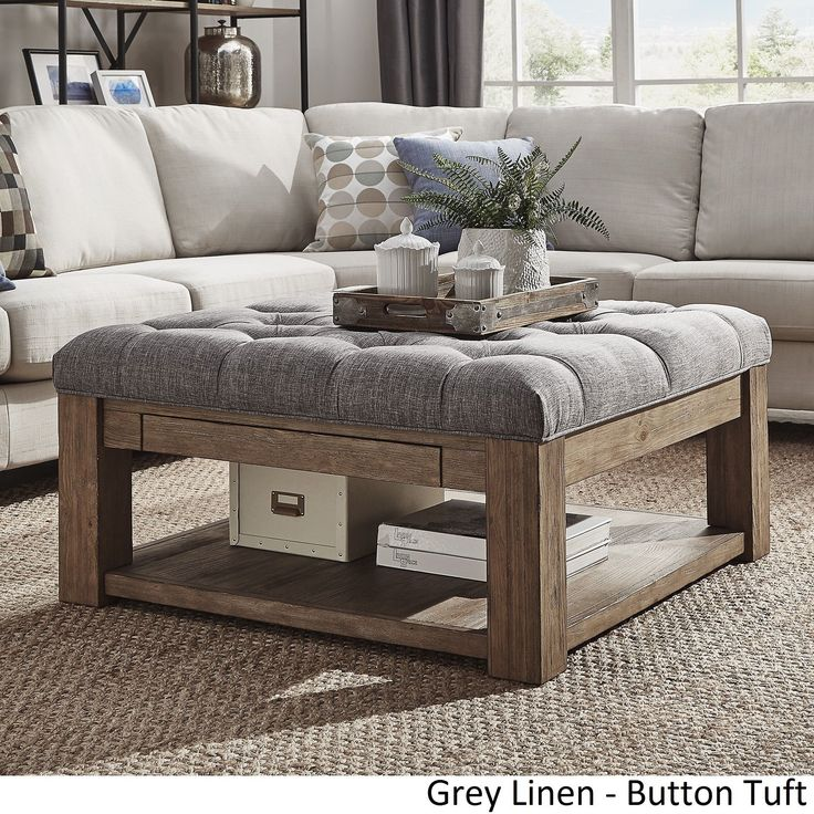This versatile piece offers the comfort of an ottoman and the convenience of a coffee table. With a large surface area to kick up your feet or keep your favorite snacks handy, this ottoman coffee tabl                                                                                                                                                                                 More