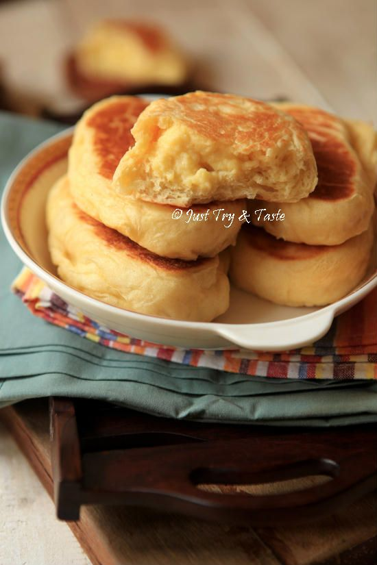 Roti Manis Tanpa Oven Isi Krim Custard