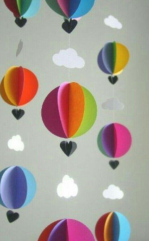 Balões nuvens coração