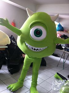 Fun Mike from Monster's Inc mascot costume for your child's birthday party.  The kids will love to play with, dance with and take photos with Mike.  These photos would be wonderful party favors and/or thank you cards.