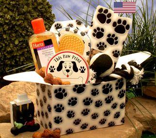 Paw prints Doggie Care Package (USA Basket) | Cubitz