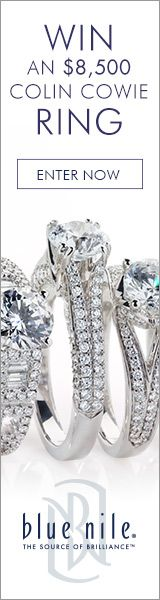 Your chance to #win a Blue Nile signature diamond paired with a Colin Cowie setting of your choice, valued at $8,500 total.