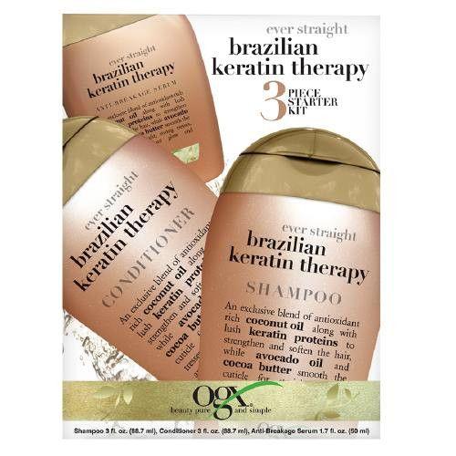 OGX 3 Piece Starter Kit - Ever Straight Brazilian Keratin Therapy