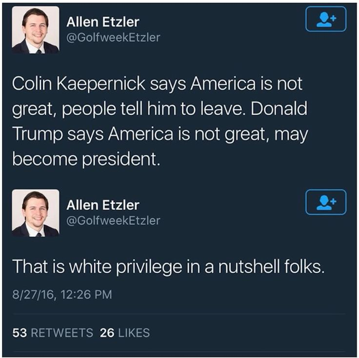 Colin Kaepernick peaceful protest - kick him out. Donald Trump - not peaceful - running for president #whiteprivilege