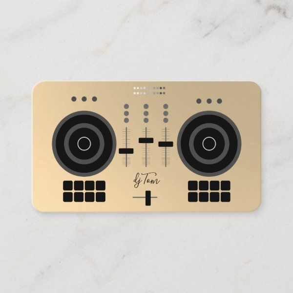 Modern Dj Business Card Zazzle Com Dj Business Cards Business Card Modern Business Cards