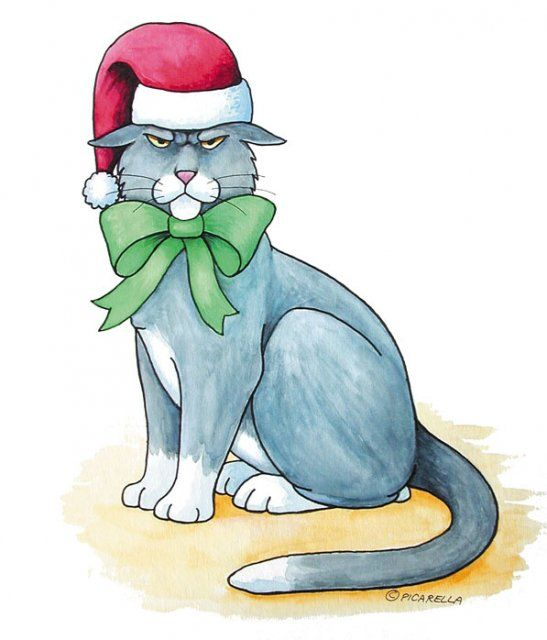 Christmas Animals Postcards for Xmas and Holidays, Animals - Cats - Animals - Postcards - animals, postcard, ecard, xmas, christmas, holidays, free, clipart,