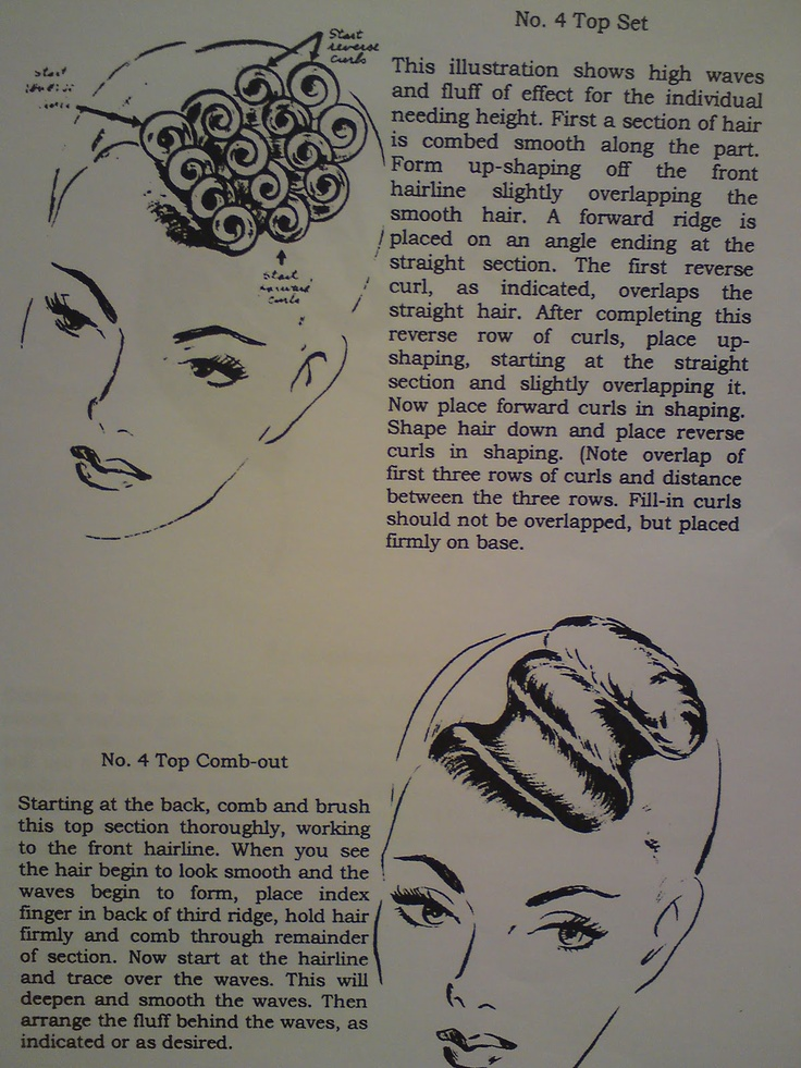 pin curls - front wave
