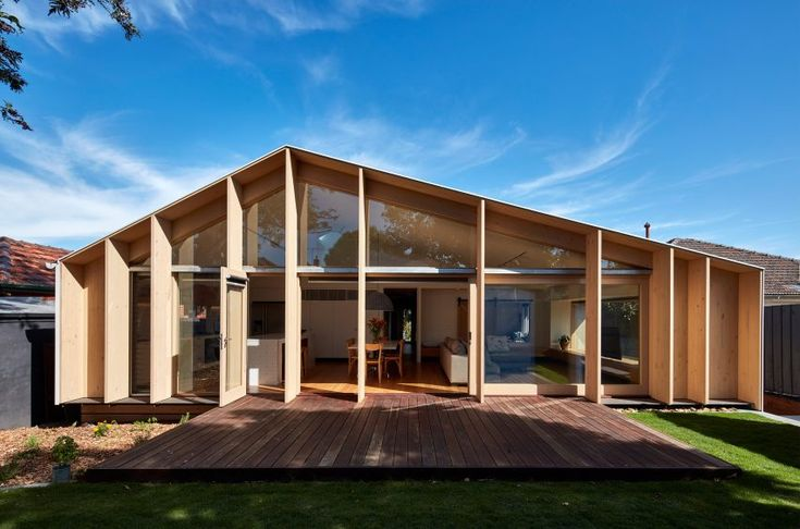 Lean to House by Warc Studio