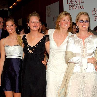 Meryl Streep and daughters Louisa, Grace and Mamie