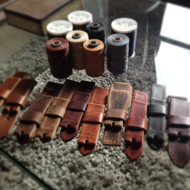 Some brand spankin' new handmade leather watchstrap creations in the horizon. Watch this space..    http://www.basandlokes.com