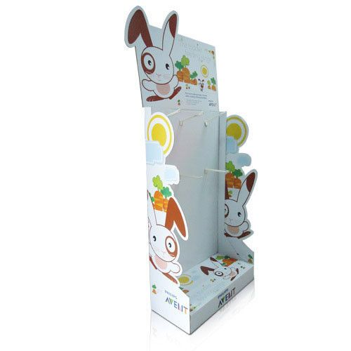 China Pegboard Cardboard Display with hooks for Baby products,POS FSDU for stores promotion supplier