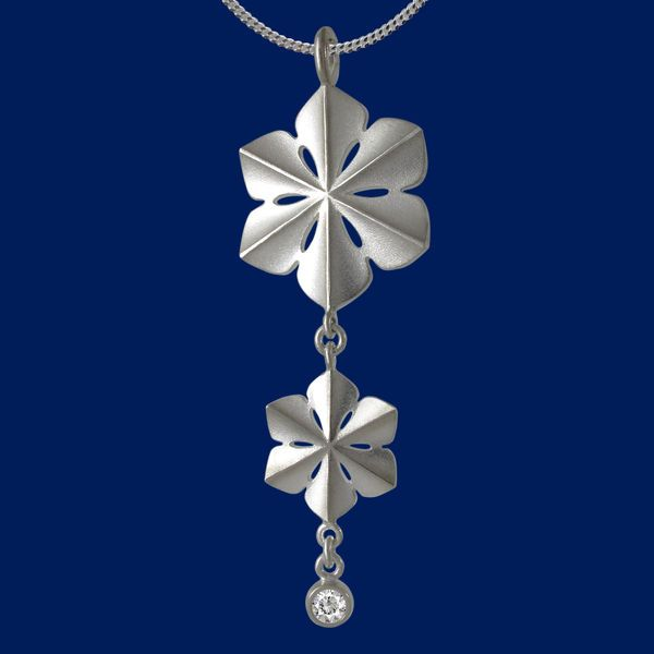 SnowQueen, snowflake, pendant, necklace. www.taigakoru.fi