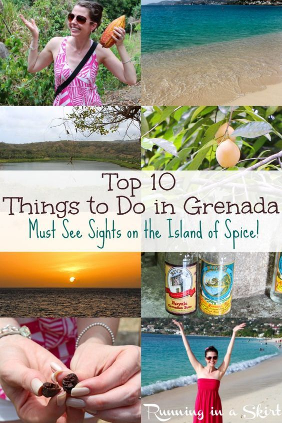Top 10 Things to Do in Grenada, Must see Sights on the Island of Spice! This remote caribbean island is small, but has it all... from amazing food, beaches (Grand Anse), to an Underwater Sculpture Park, colonial town (St. George,) Sandals, hiking and a chocolate factory (Belmond Estate)... there is something for everyone! A great travel adventure. | Running in a Skirt